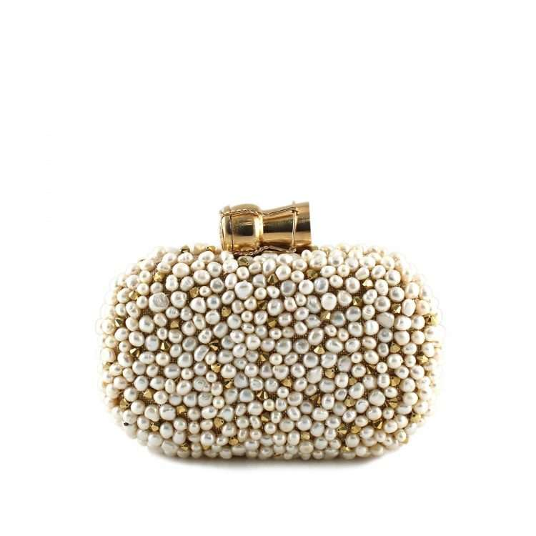 champagne loulou gold box bags gold white box evening handwork bridal red carpet front