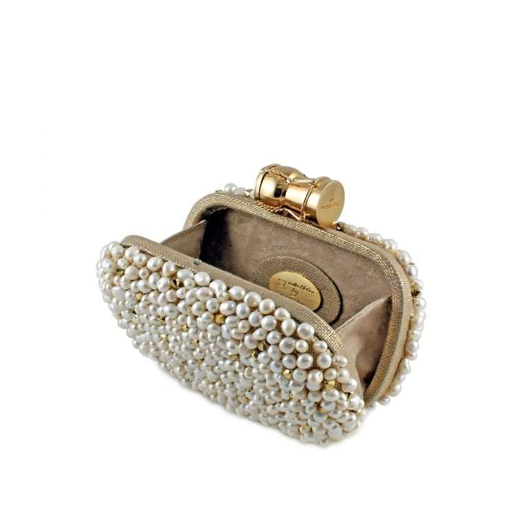 champagne loulou gold box bags gold white box evening handwork bridal red carpet open