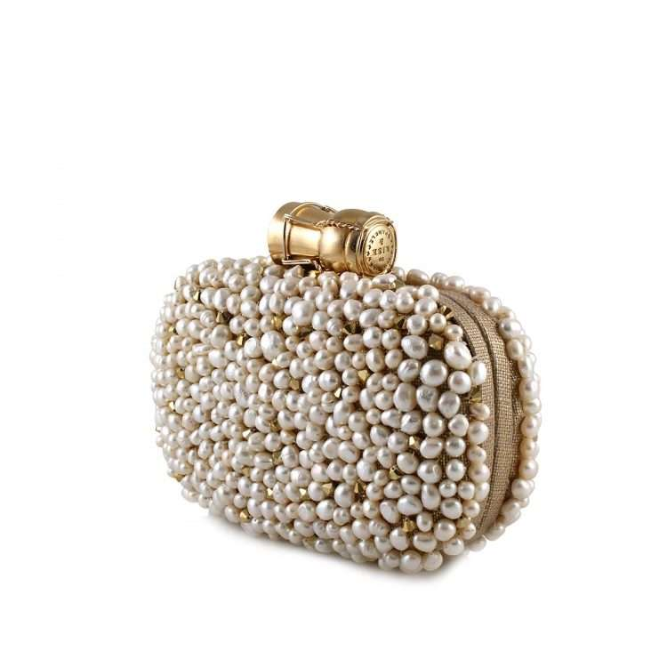 champagne loulou gold box bags gold white box evening handwork bridal red carpet side