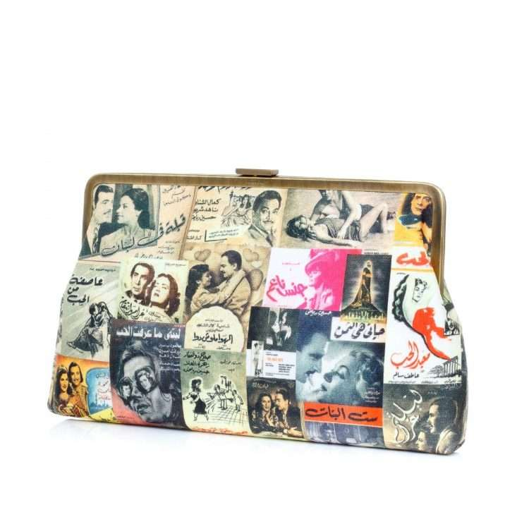 posters clutch me bags multicolor yellow clutch me day impressions impressions side