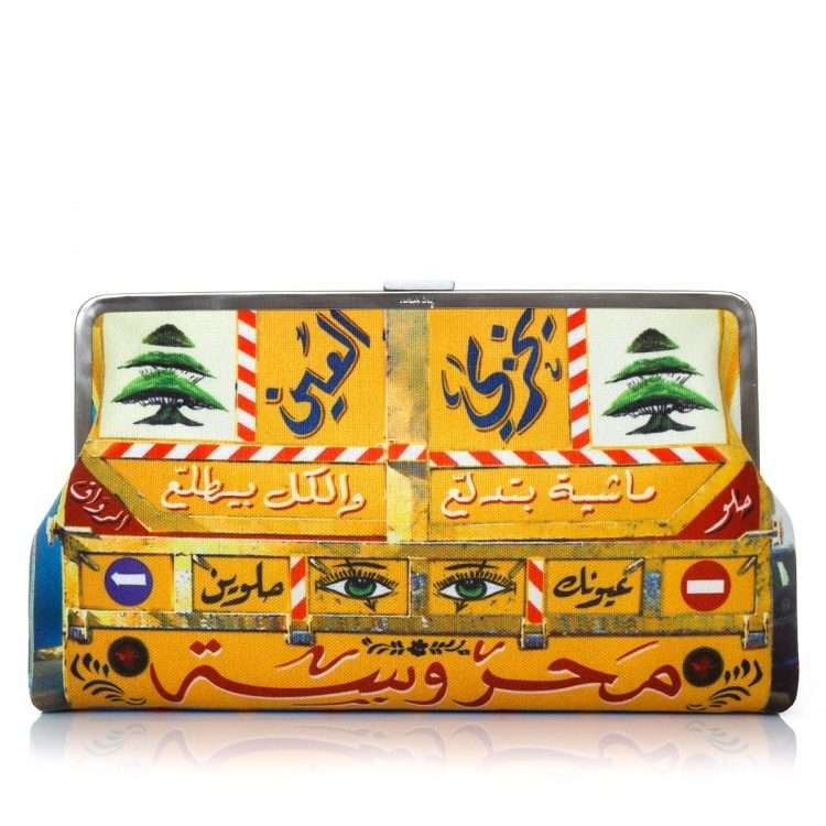 beirut camion clutch me bags yellow clutch me day impressions impressions front