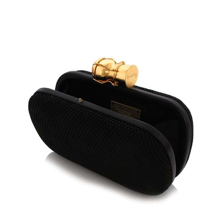 champagne black leather box bags black box evening essentials red carpet open