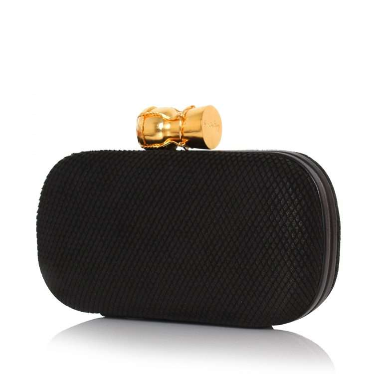 champagne black leather box bags black box evening essentials red carpet side