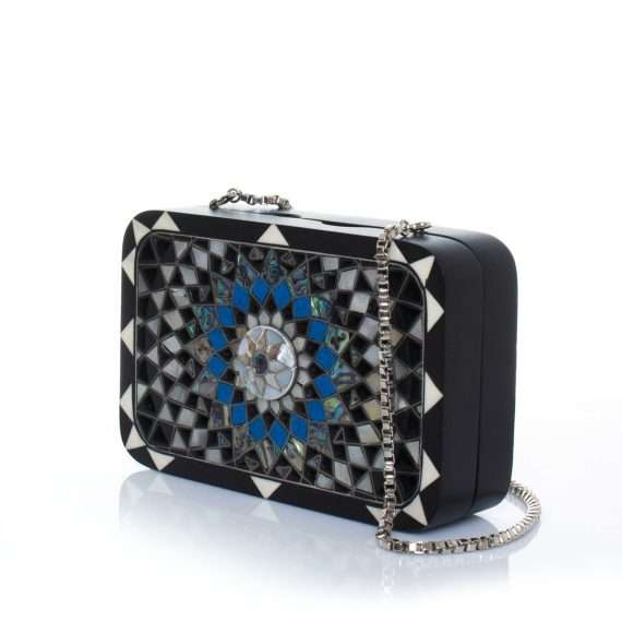 mandala black bags black evening novelty oriental side