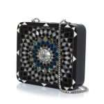 mandala radiant black bags black evening novelty oriental side