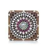 mandala radiant bags straw/wood evening novelty oriental front