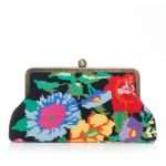 flowers black canvas classic bags black multicolor classic day handwork essentials