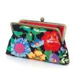 flowers black canvas classic bags black multicolor classic day handwork essentials open