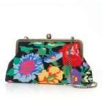 flowers black canvas classic bags black multicolor classic day handwork essentials side