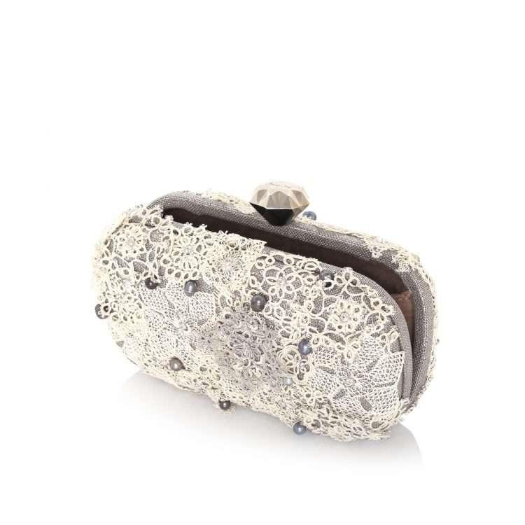 makouk silver box bags metallic silver box evening handwork bridal open