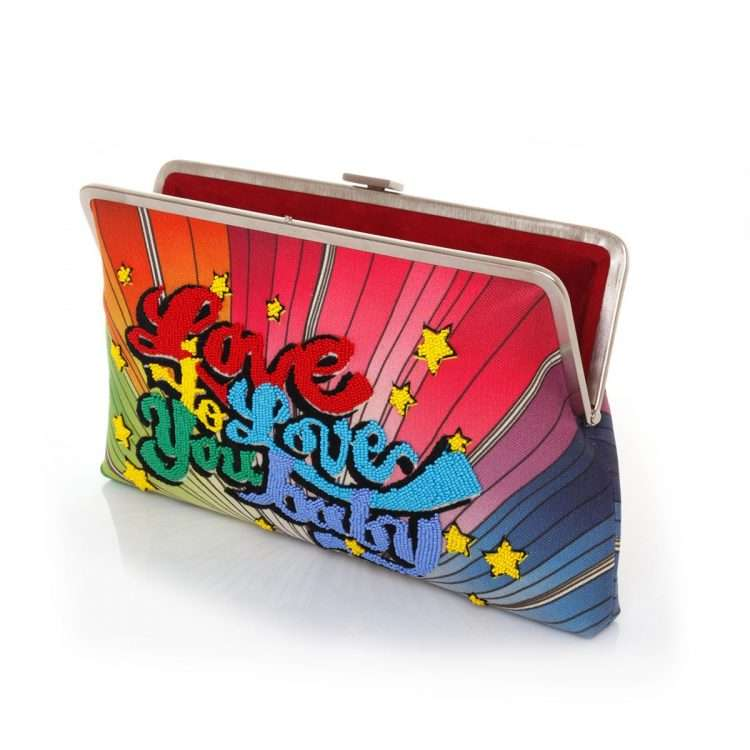 love to love clutch me bags multicolor clutch me day handwork discotheque open