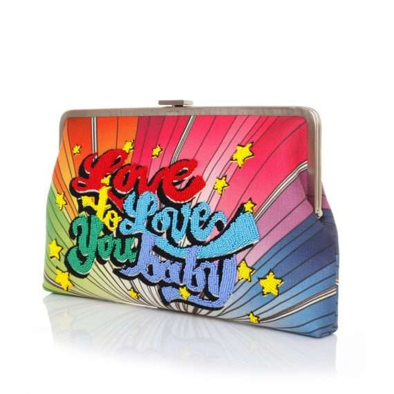 love to love clutch me bags multicolor clutch me day handwork discotheque side