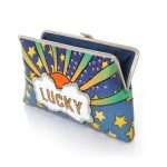 lucky clutch me bags multicolor pastels clutch me day handwork discotheque open