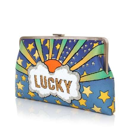 lucky clutch me bags multicolor pastels clutch me day handwork discotheque side