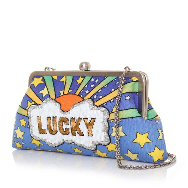 lucky classic bags blue pastels classic day handwork discotheque side