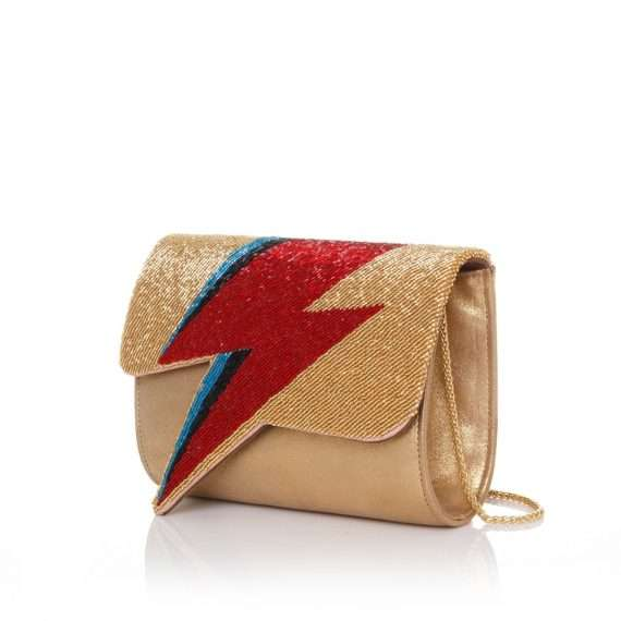 bowie red on gold bags gold red evening handwork discotheque side