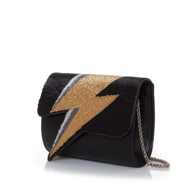 bowie gold on black bags black gold evening handwork discotheque side