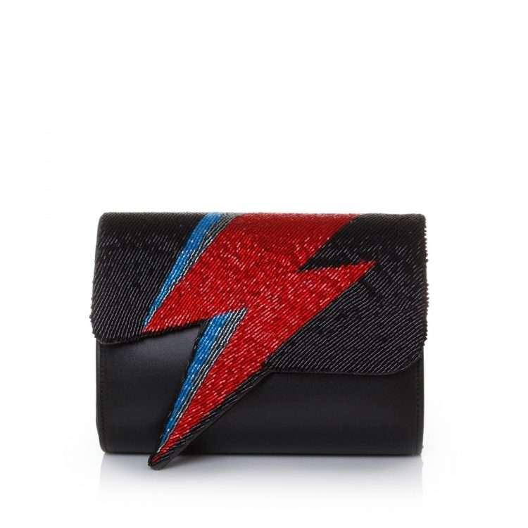 bowie red on black bags black red evening handwork discotheque front