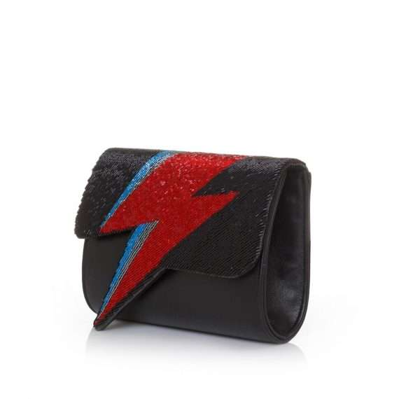 bowie red on black bags black red evening handwork discotheque side