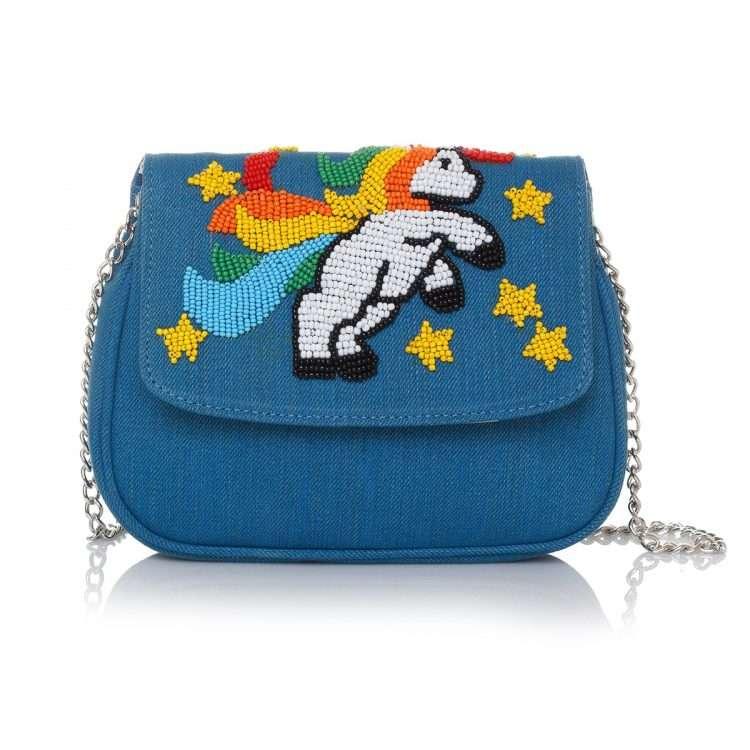 i am a unicorn blue mini bags blue mini day handwork little miss sarah front