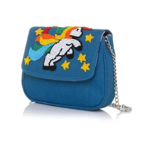 i am a unicorn blue mini bags blue mini day handwork little miss sarah side