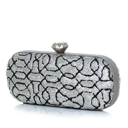 ottoman silver big box bags metallic silver big box evening handwork oriental side