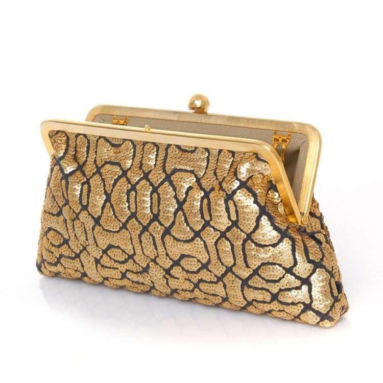 ottoman gold classic bags gold metallic classic evening handwork oriental open