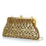 ottoman gold classic bags gold metallic classic evening handwork oriental side