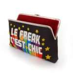 le freak clutch me bags black multicolor clutch me day handwork discotheque open