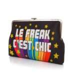 le freak clutch me bags black multicolor clutch me day handwork discotheque side
