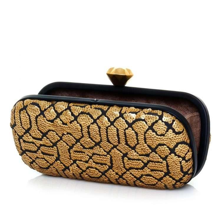 ottoman gold big box bags gold metallic big box evening handwork oriental open