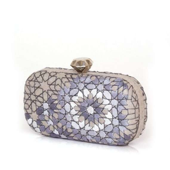 ARABESQUE SILVER THREAD BOX SIDE