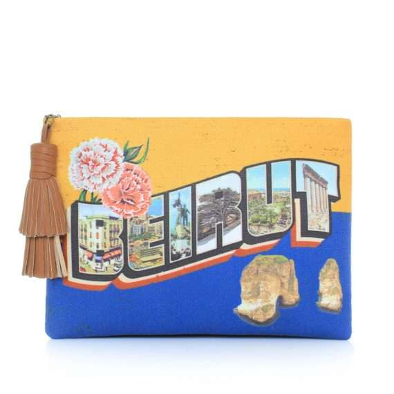 BEIRUT-POSTCARD -POUCH-front