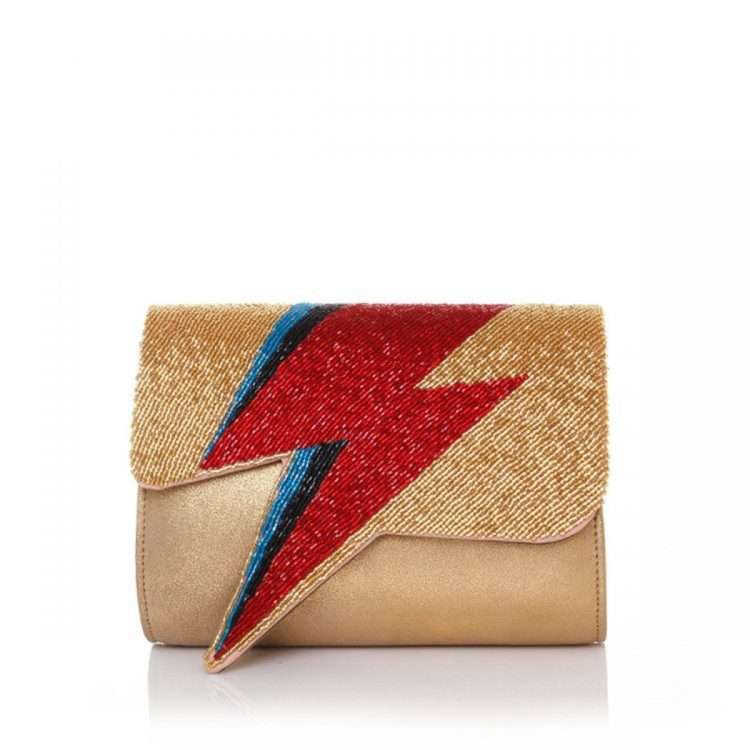 BOWIE RED ON GOLD FRONT