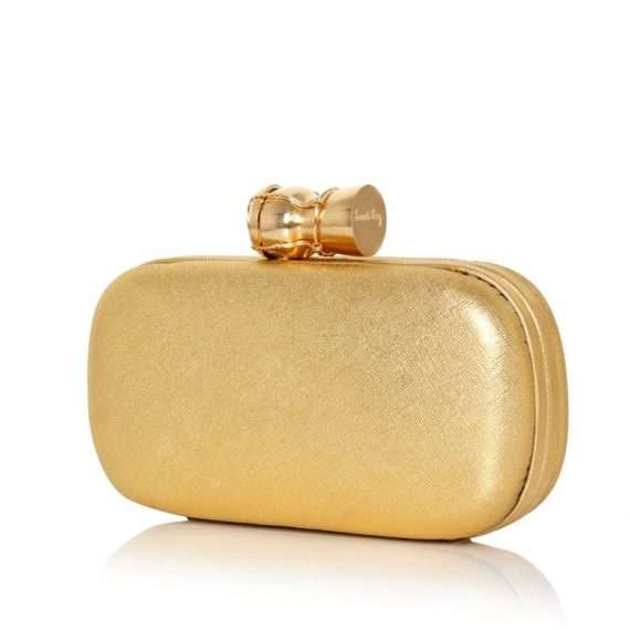 CHAMPAGNE GOLD LEATHER BOX SIDE