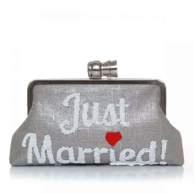 CHAMPAGNE JUST MARRIED SILVER CLASSIC FRONT