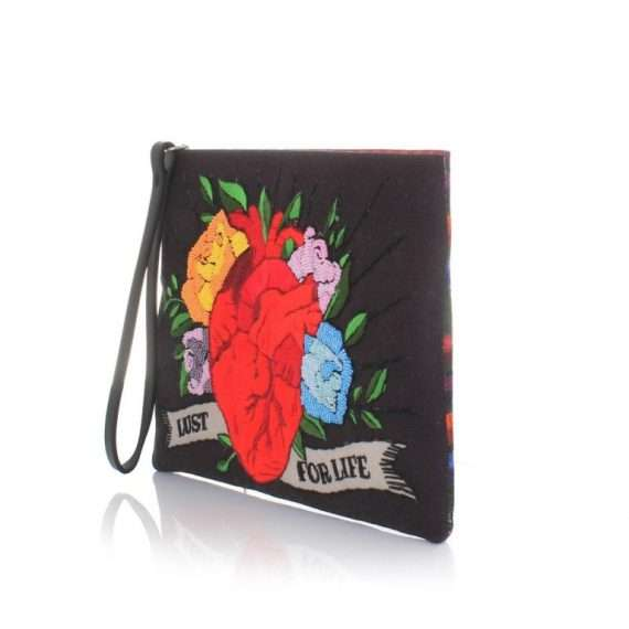 CORAZON BLACK POUCH SIDE