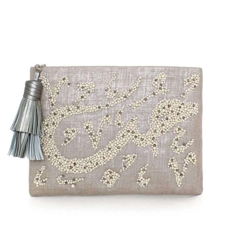 HOBB LOULOU SILVER POUCH FRONT