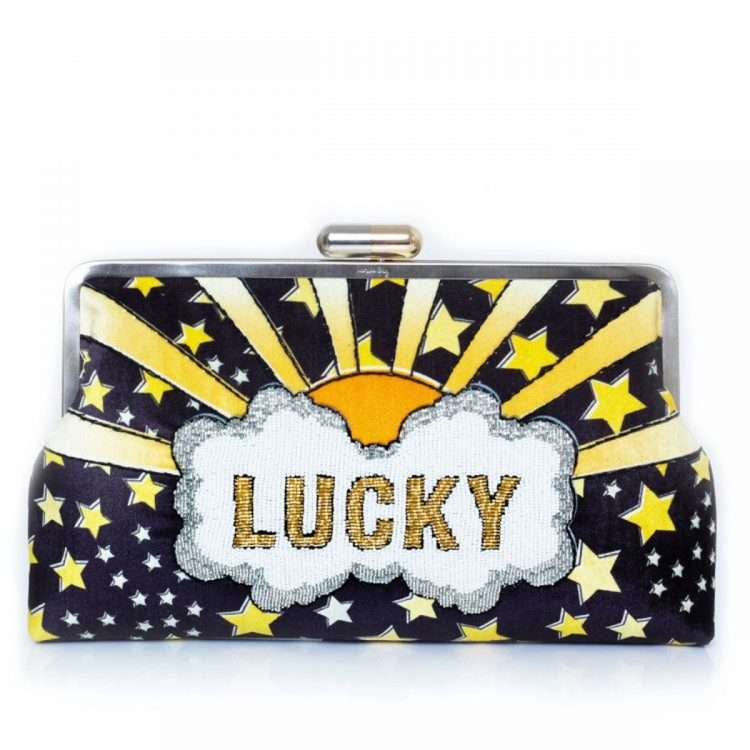 LUCKY GOLD CLUTCH ME FRONT