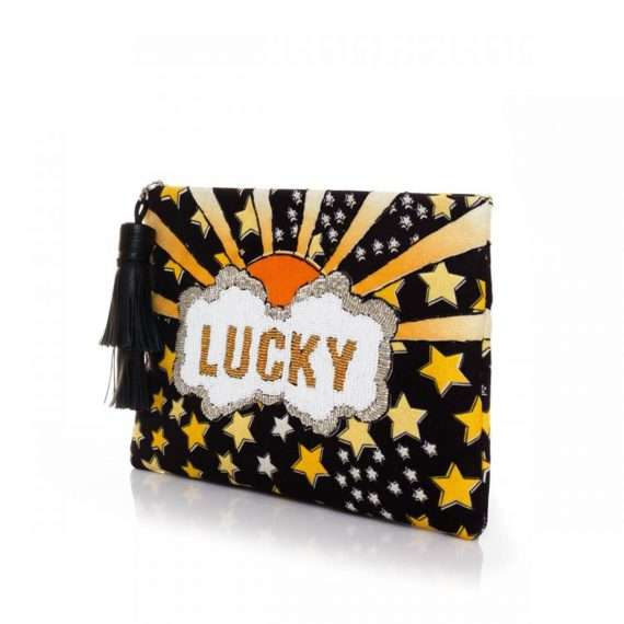 LUCKY GOLD POUCH SIDE