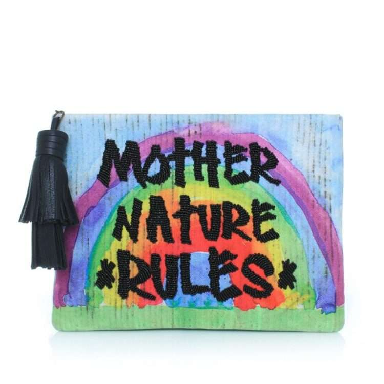 MOTHER NATURE RULES POUCH FRONT