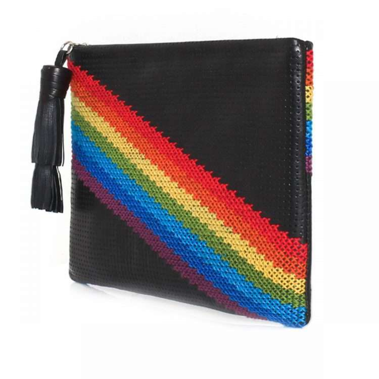 PIXEL RAINBOW POUCH SIDE