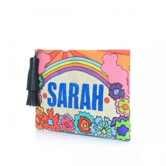 SAY MY NAME RAINBOW POUCH SIDE