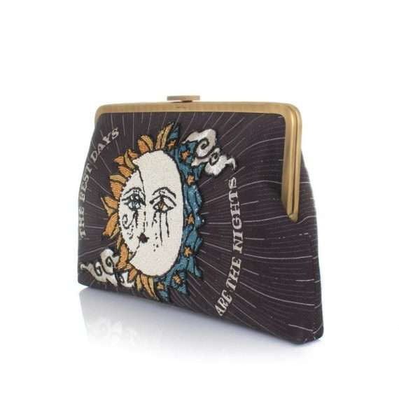 SUN TO MOON BLACK CLUTCH ME SIDE