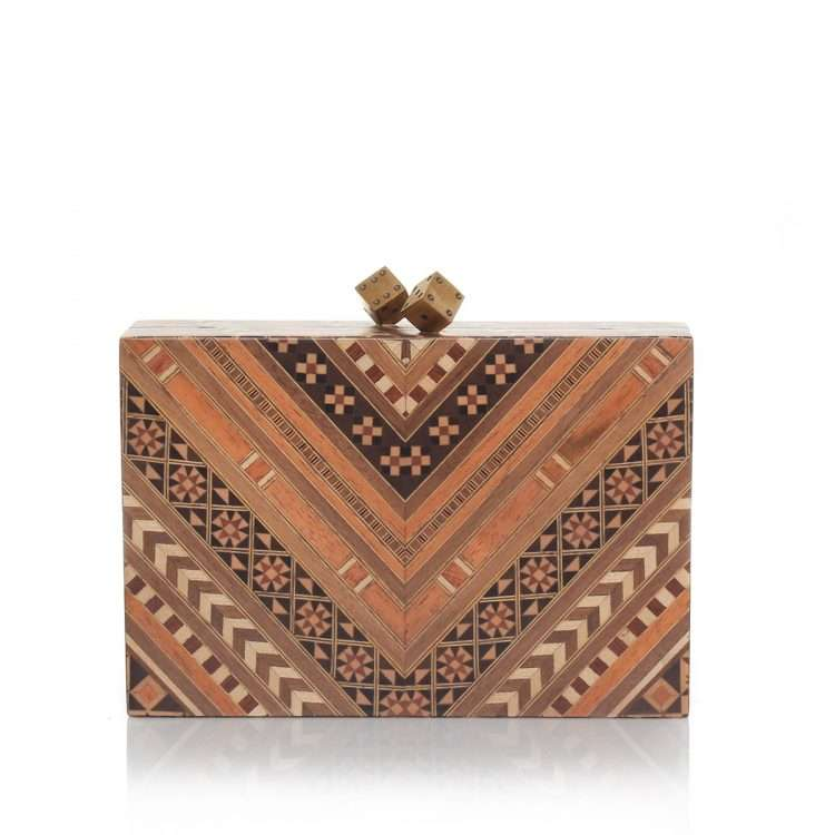 afro marquetry bags neutrals day evening novelty afrodisiac front