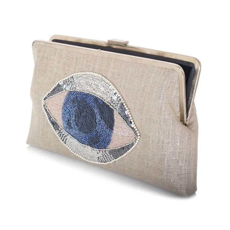 eye on you clutch me bags silver clutch me day handwork essentials open