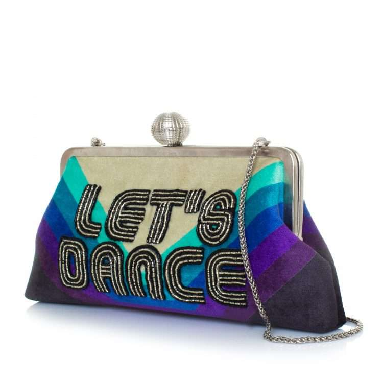 let's dance classic bags blue classic evening handwork discotheque side