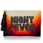 night fever pouch bags red pouch day handwork discotheque front