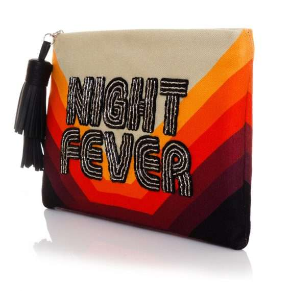 night fever pouch bags red pouch day handwork discotheque side