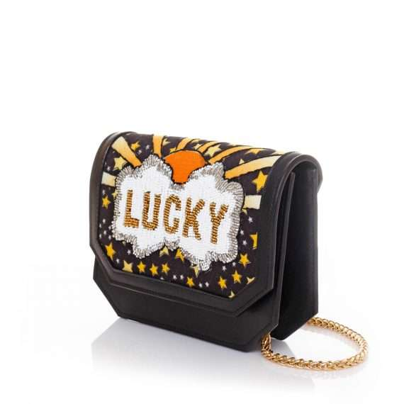 lucky belt bag bags black gold belt bag evening handwork discotheque side